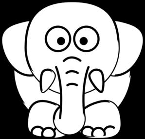 Elephant Outline Clip Art at Clker.com - vector clip art ...