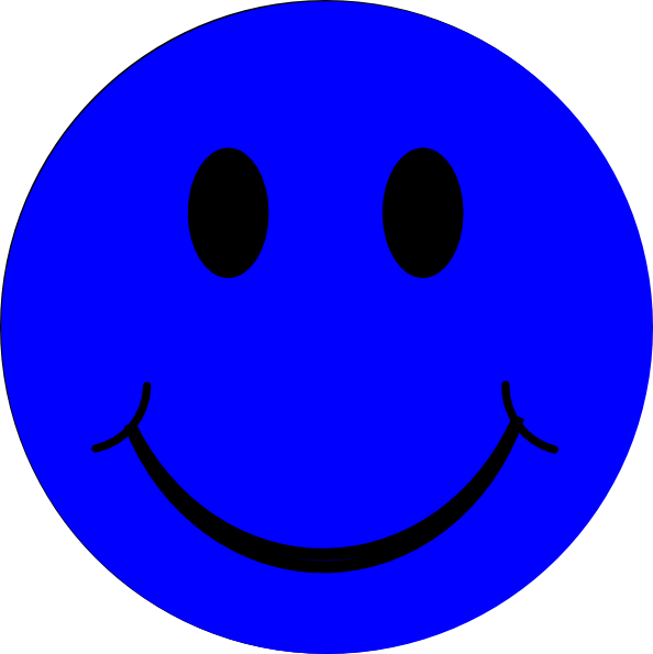 Blue Smiley Face Clip Art at Clker.com - vector clip art ...