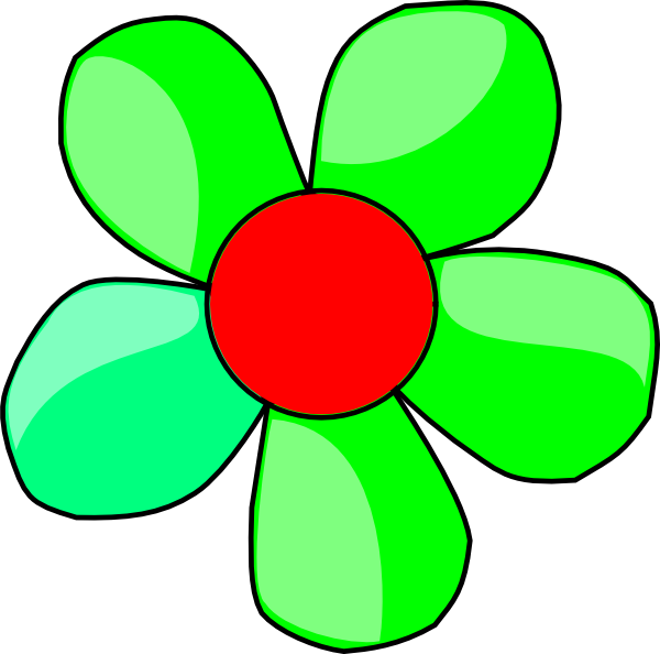 green flower clip art at clker com vector clip art flower clip art silhouette Rose Silhouette Clip Art
