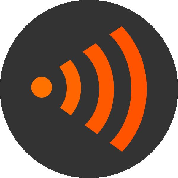 Wifi Orange Right Clip Art at Clker.com - vector clip art ...