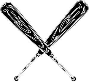 Baseball Bat Black Clip Art