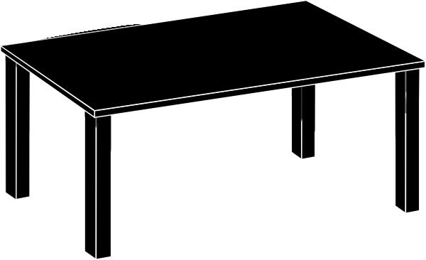 Black Table Clip Art at Clker.com - vector clip art online ...