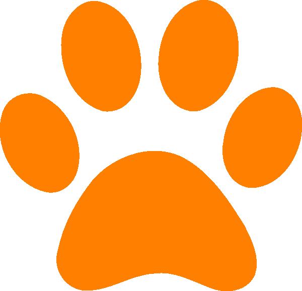 Orange Paw Print Clip Art At Clker.com