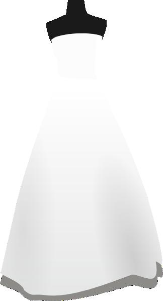Bridal Dress Clip Art At Clker Com Vector Clip Art