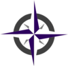 Purple Compass Rose Clip Art