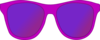 Dark Pink Sunglasses Front Clip Art