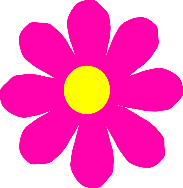 Pretty Pink Flower Clip Art at Clker.com - vector clip art ...