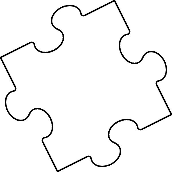 jigsaw puzzle piece outline clip art at clkercom vector