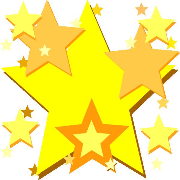 Yellow Stars Clip Art at Clker.com - vector clip art ...