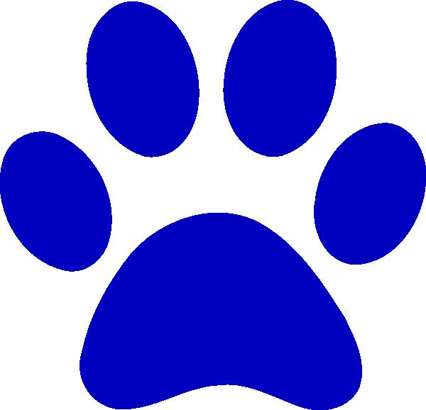 true blue paw print clip art at clker com vector clip golf clip art silhouette golf clip art free images