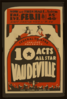 Federal Theatre Project Presents 10 Acts All Star Vaudeville Clip Art