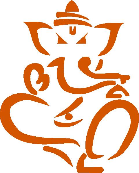 Line Art Vinayagar : Ganesha clip art at clker vector online
