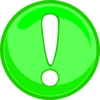 Green Caution Icon Clip Art
