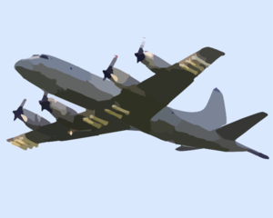 A P-3c  Orion  Attached To The  Tigers  Of Patrol Squadron Eight (vp-8) Heads To A Bombing Exercise Clip Art