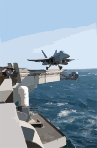 F/a-18 Hornet Launches From Uss Abraham Lincoln Cvn 72 Clip Art