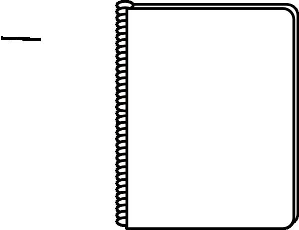 Notebook White Clip Art at Clker.com - vector clip art ...