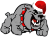 Growling Dog With Santa Hat Clip Art