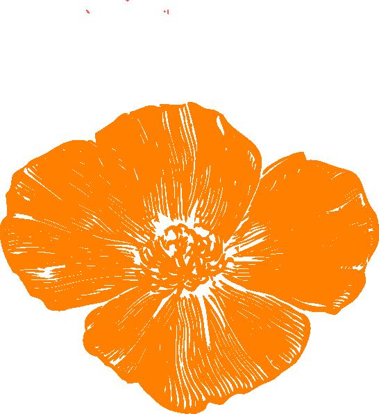 Orange Poppy Clip Art At Clker Com Vector Clip Art