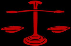 Red Legal Scales Clip Art at Clker.com - vector clip art ...