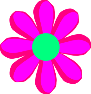 Flower Cartoon Pink Clip Art At Clker Com Vector Clip