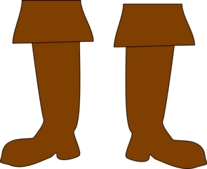 Brown Pirate Boots Clip Art