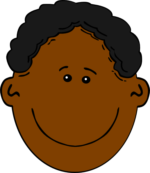 Young Happy Boy With Brown Wet Hair Is Smiling And: Happy Boy Cartoon Clip Art At Clker.com