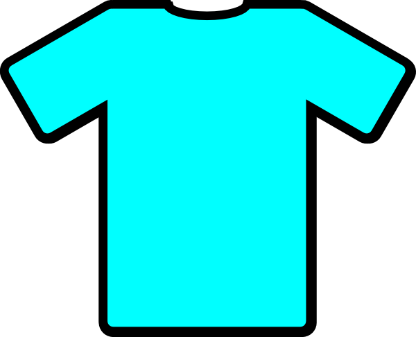 Light Blue Tshirt Clip Art At Clker Com Vector Clip Art