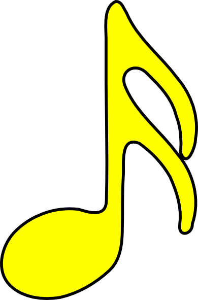 sixteenth note yellow clip art at clker com vector clip music note clip art black and white music note clip art images
