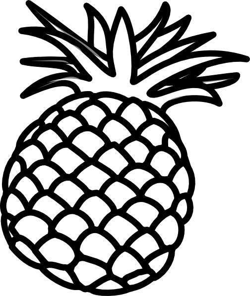 Pineapple Outline Clip Art At Clker Com Vector Clip Art