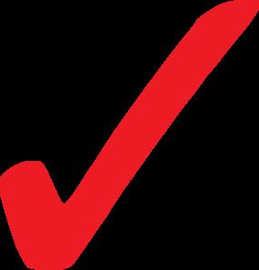 Transparent Red Checkmark Clip Art