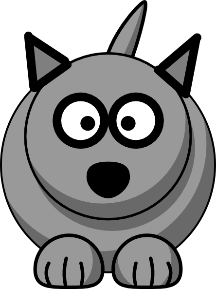Cartoon Wolf Clip Art at Clker.com - vector clip art ...