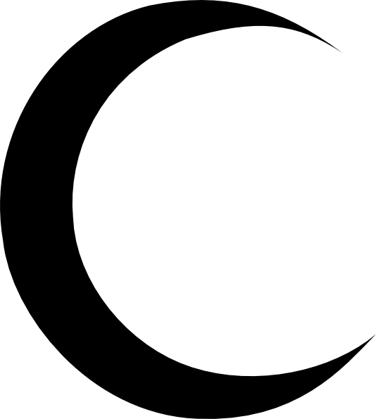 Black Crescent Moon Clip Art at Clker.com - vector clip ...