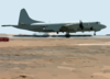 A U.s. Navy P-3c Orion Patrol Aircraft Takes Off On A Mission From A Forward Deployed Location In Support Of Operation Enduring Freedom. Clip Art