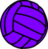 Purple Volleyball Clip Art
