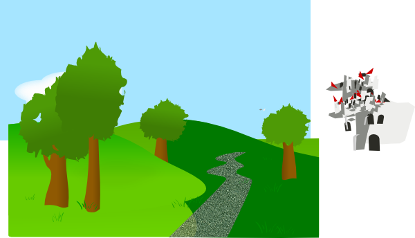 background with trees and hills clip art at clker com