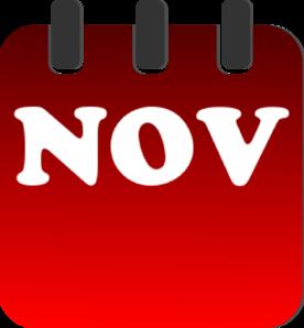 November Calendar Clip Art at Clker.com - vector clip art ...