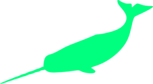 Green Narwhal Clip Art