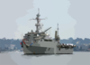 The Amphibious Transport Dock Ship Uss Dubuque (lpd 8) Sails Into San Diego Harbor. Clip Art