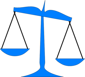 scale tipped risks vs benefits clip art at clker com Scales of Justice No Background Law and Justice Clip Art
