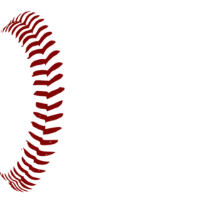 Red Softball Laces 1  Clip Art