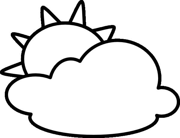 Cloudy - Outline Clip Art at Clker.com - vector clip art ...