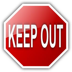 Keep Out Sign Clip Art