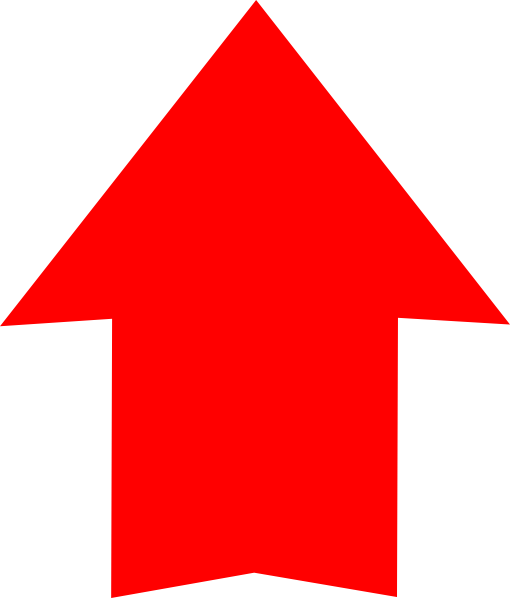 Plain Red Arrow Up Clip Art at Clker.com - vector clip art online ...