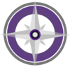Purple Compass Rose Graphic Clip Art