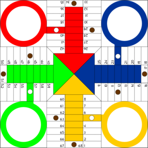 Parchis Board Clip Art