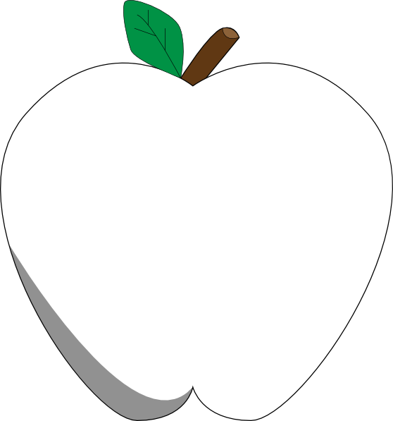 white apple clip art at clkercom vector clip art online