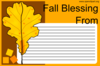 Fall Greeting Card Clip Art