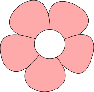 Simple Flower Pink Clip Art At Clker Com Vector Clip Art