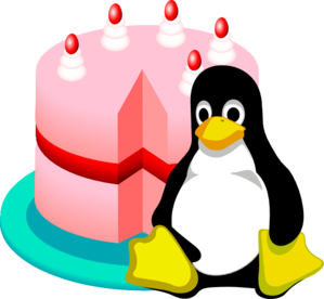 Happy Birthday Linux Clip Art