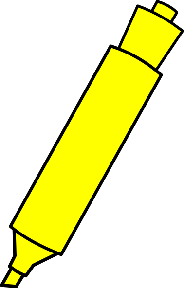 Yellow Highlighter Marker Clip Art at Clker.com - vector